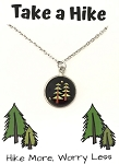 Pine Tree Take a Hike Necklace
