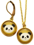 Panda Glass Photo Earrings