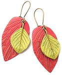 Red Leaf/Green Leaf Earrings