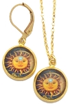 Sun/Moon Glass Photo Earrings