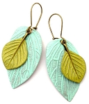 Mint Leaf/Green Leaf Earrings