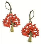 Red Tree Earrings