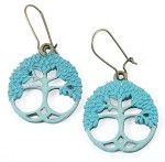 Turquoise Tree Earrings