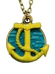 Green Anchor Necklace