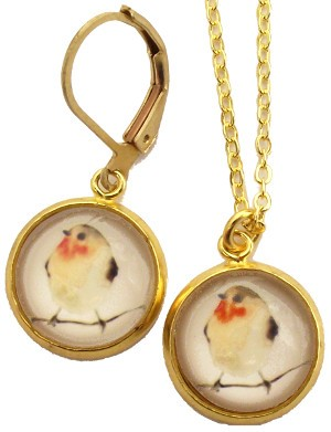 Bird Glass Photo Necklace