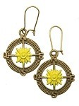 Chartreuse Compass Earrings