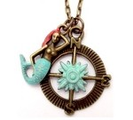 Compass and Mermaid Necklace