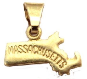 Massachusettes State Necklace