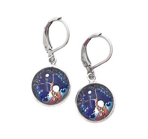 Blue Tree Hugger Earrings