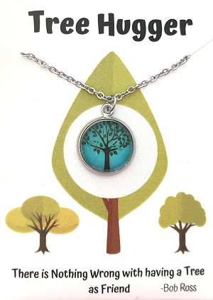 Turquoise Tree Hugger Necklace