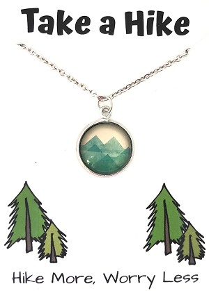 Mountain Take a Hike Necklace