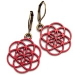 Red Seed of Life Earrings